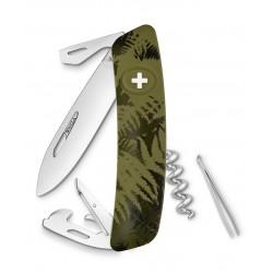 Нож перочинный SWIZA С03, силва, хаки